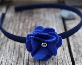 Classic felt flower hairband (headband, alice band) - 48 colours available