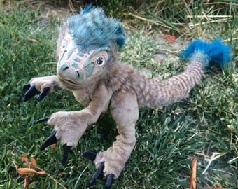Sale Poseable Art Doll Baby Raptor