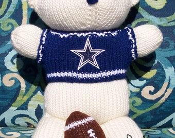 Bear, Dallas Cowboy Bear, Baby Boy Bear, Baby Shower Gift, Birthday Gift, Keepsake Bear, Souvenir Bear, Father's Day, Baby