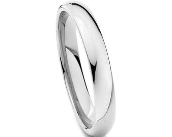 Stainless Steel Wedding Ring, Thin Silver Wedding Band, Men's Ring, Women's Ring, 4mm Stainless Steel Ring, Engagement Anniversary Ring