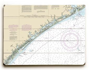 NC: Topsail Island, NC Nautical Chart Sign
