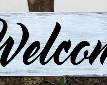 Primitive - Welcome wood sign