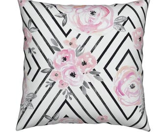 Newborn Baby.Pillow Cover.Blush Roses Modern Pillow.Nursery Pillow.Baby Girl.Baby Shower.Shabby Chic Pillow.Baby Bedding. Kids Room Decor