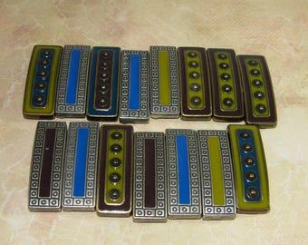 Metal Belt Loops, Set Of 16 Reversible
