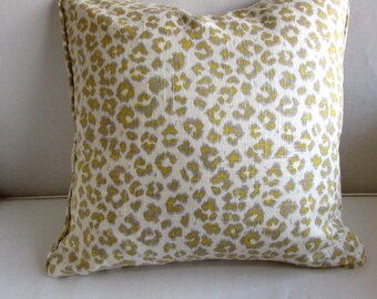 CHEETAH LINEN pillow cover 20x20 in Sunshine