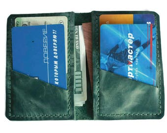 Mini wallet (9 colors) small wallet leather wallet card wallet pocket wallet slim wallet credit card wallet green wallet minimalist wallet