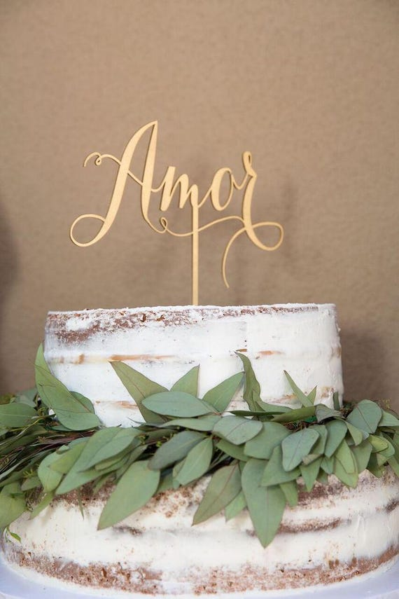 Amor Wedding Cake Topper, Amor Cake Topper, Amor,  Wedding Cake Topper, Cake Topper for Wedding, Bridal Shower Cake Topper