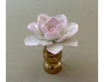 Lotus Lamp Finial Hand Crafted in Custom Colors
