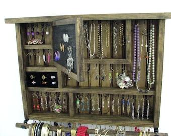 Dark Walnut Jewelry Organizer