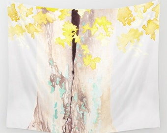 Lichen and Leaves- Wall Tapestry- Tapestry- Tree Tapestry- Nature Tapestry- Bedroom Wall Art- Large Wall Decor- Home Decor- Boho Decor- Dorm