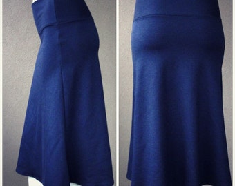 A line skirt in knee length - organic cotton - made to order