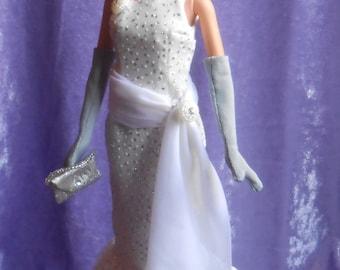 Glittery mermaid gown for Barbie