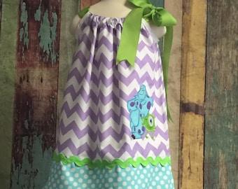 Monsters Inc. pillowcase dress, Pillow case dress