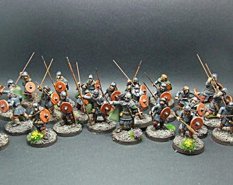 28mm Early Saxon Warband *Pro-Painted*