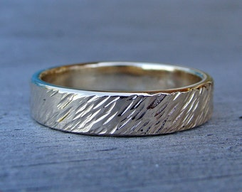 Wheat Ring, Recycled 14k Yellow Gold, Made to Order