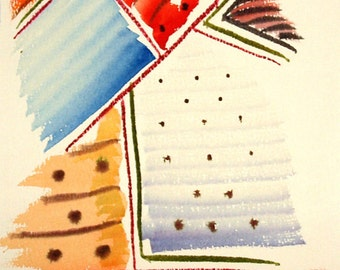 FREE SHIPPING Watercolor dreams number 25