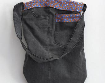 Tote bag denim | upcycled jeans