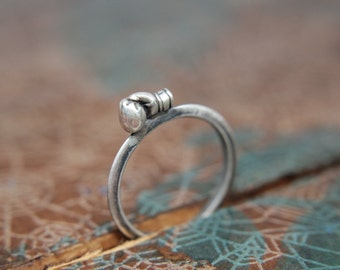Prize Fighter Stacking Ring. Sterling silver boxing glove ring. Strong female jewelry. Fierce female feminist ring.