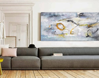 Large Abstract Art, Modern Art Canvas, Living Room Decor, Fine Art Painting, Contemporary Art, Wall Art Abstract, Wall Hanging, Art Work