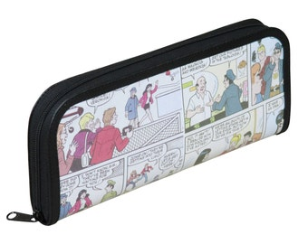 Long pencil case Archie comics, FREE SHIPPING, Pencil pouch, pencil holder , pencil crayon pouch, zipper pencil case pcycled recycled