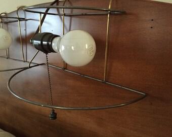 Vintage headboard lamp pair