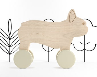 Rolling Frenchie Push Toy