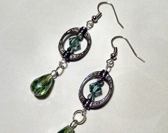 Mossy    dangle earrings