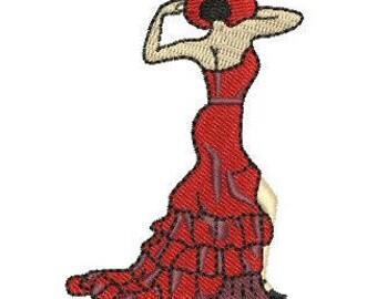 NeedleUp - Flamenco Dancer embroidery design