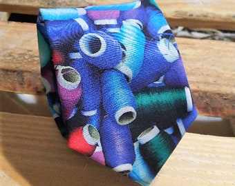 Spools of Thread Necktie, Sewing Necktie, Crafting Necktie, DIY Necktie
