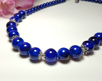 Blue Marble Necklace
