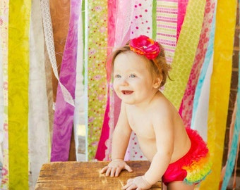 BLOOMERS and HEADBAND, Bloomer, Baby Bloomer, Diaper Cover,Ruffle Bum Baby Bloomer and Baby Girl Headband -Photo Prop Set- My2lilPixies