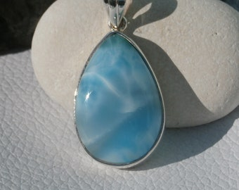 Larimar Pendant Hadncrafted In Sterling Silver 925