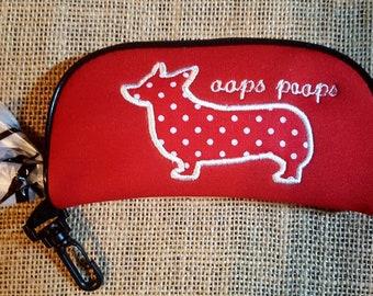 Corgi Dog Poo Bag Holder Red