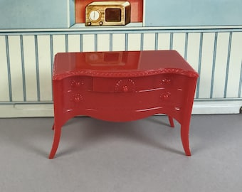 """RENWAL BUFFET, 3/4"""" Scale, Hard Plastic, Moveable, 1950's, Vintage Tin Dollhouse Dining Room Furniture"""