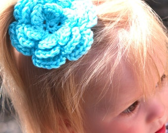 CROCHET PATTERN - 3-Layer Flower Applique - Great for hair clips, hats, headbands, and more - quick and easy - PDF 201 - Sell what you Make