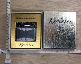 Vintage Kreisler Cigarette Lighter Butane Long Flint 15603 Original Box Used