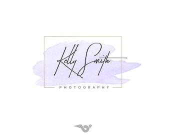Photography Logo, Lavender logo design, Handwritten logo, Signature logo, Premade logo, Boutique design, Watercolor logo,  Modern Logo 20
