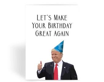 Male Birthday Cards Funny ~ Trump birthday card etsy