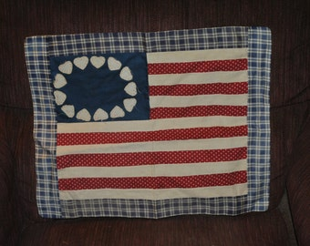 Betsy Ross hearts Wall Quilt