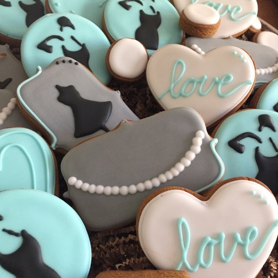 Breakfast at Tiffany's Themed Cookies