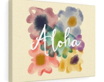 Aloha Floral Print On Canvas
