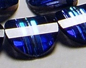 2pc - 14mm Rare Vintage Swarovski Crystal Bermuda Blue II Pagoda 5107 Beads Rights