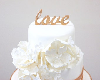 Copper Wedding • Copper Wedding Cake Topper • Love Cake Topper • FREE SHIPPING in the U.S.A.
