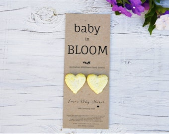 Baby Shower Favours, Australian Native Wildflower Seed Bombs, Favors, Bomboniere, Baby, Baby Girl, Baby Boy, New Baby, Handmade