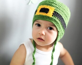 St. Patricks Day Baby Hat, Leprechaun Hat, St Patricks day Toddler hat, St Patricks day Baby, Baby hat, Toddler hat