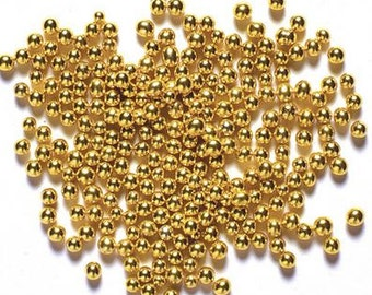 Edible Gold Sugar Pearls/ Gold Sugar Pearls/ Edible Gold Sugar Balls/ Gold Sugar Pearls/ Cake Pearls/ Metallic Cake Pearls