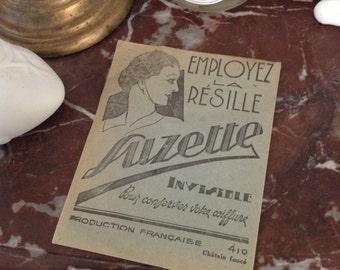 French art deco Hairnet fishnet mint 1930 boudoir paris coiffure
