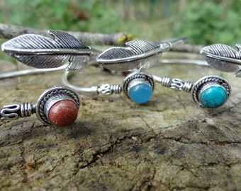 Feather bracelet Silver (only available sand stone)
