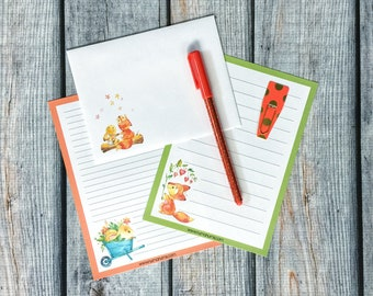 Stationery Set - fox & bunny - letter writing