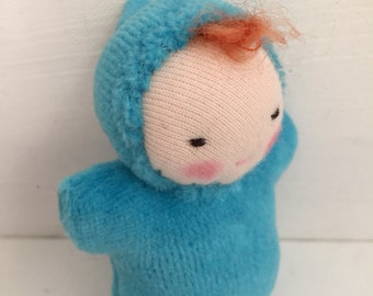 Waldorf doll, Waldorf toy, gift for her, redhead baby